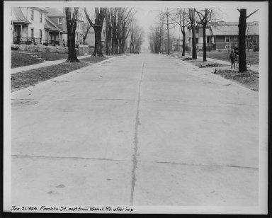 Street Improvement Photographs -- Box 23, Folder 32 (Franklin Avenue) -- print, 1929-01-21