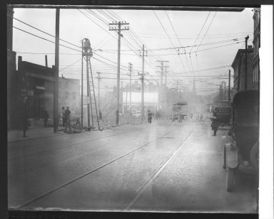 Street Improvement Photographs -- Box 23, Folder 22 (Freeman Avenue) -- print, 1921-04-21