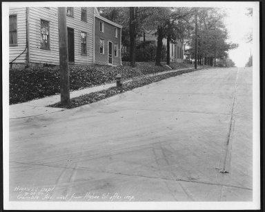 Street Improvement Photographs -- Box 23, Folder 36 (Gamble Street) -- print, 1930-09-30