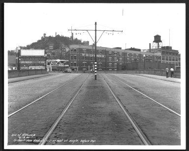 Street Improvement Photographs -- Box 23, Folder 43 (Gilbert AveViaduct) -- print, 1937-06-16