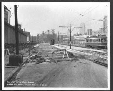 Street Improvement Photographs -- Box 23, Folder 43 (Gilbert AveViaduct) -- print, 1937-08-25