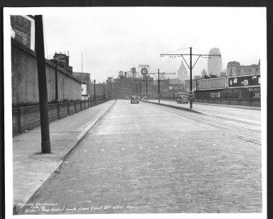 Street Improvement Photographs -- Box 23, Folder 43 (Gilbert AveViaduct) -- print, 1937-12-30