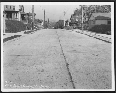 Street Improvement Photographs -- Box 23, Folder 47 (Gilsey Avenue) -- print, 1927-10-28