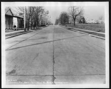 Street Improvement Photographs -- Box 23, Folder 51 (Glenmore Avenue) -- print, 1929-01-04