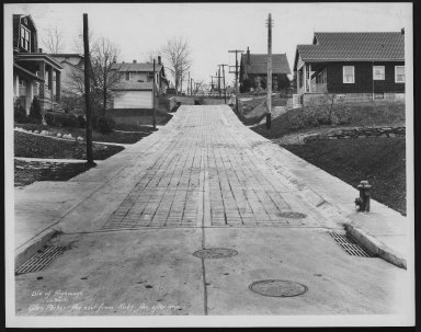 Street Improvement Photographs -- Box 23, Folder 52 (Glen Parker Avenue) -- print, 1931-11-30