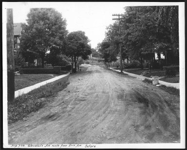 Street Improvement Photographs -- Box 23, Folder 53 (Glen Shade Avenue) -- print, 1928-08-07