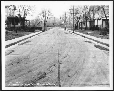 Street Improvement Photographs -- Box 23, Folder 53 (Glen Shade Avenue) -- print, 1920-01-10