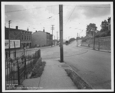 Street Improvement Photographs -- Box 23, Folder 54 (Glenway Avenue) -- print, 1938-08-08