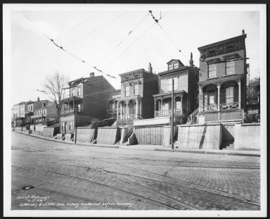 Street Improvement Photographs -- Box 23, Folder 54 (Glenway Avenue) -- print, 1938-03-21