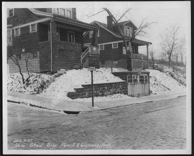 Street Improvement Photographs -- Box 23, Folder 55 (Glenway Avenue) -- print, 1927-01-03