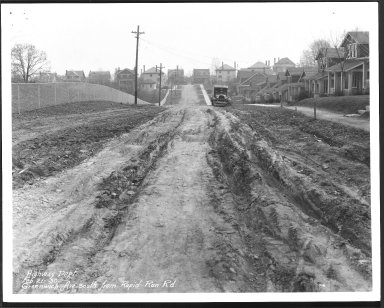 Street Improvement Photographs -- Box 23, Folder 59 (Greenwich Avenue) -- print, 1930-02-21
