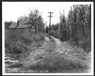 Street Improvement Photographs -- Box 23, Folder 60 (Grover Avenue) -- print, 1937-10-14