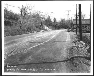 Street Improvement Photographs -- Box 23, Folder 61 (Hamilton Avenue) -- print, 1927-04-26