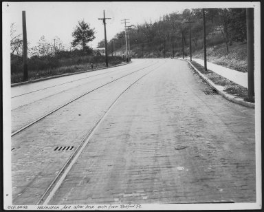 Street Improvement Photographs -- Box 23, Folder 61 (Hamilton Avenue) -- print, 1928-10-24