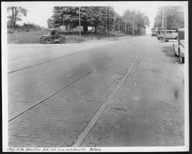 Street Improvement Photographs -- Box 23, Folder 61 (Hamilton Avenue) -- print, 1928-08-14