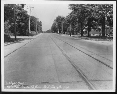 Street Improvement Photographs -- Box 23, Folder 61 (Hamilton Avenue) -- print, 1930-07-18