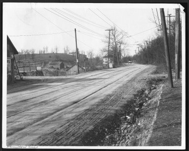 Street Improvement Photographs -- Box 23, Folder 62 (Hamilton Avenue) -- print, 1918-02-26