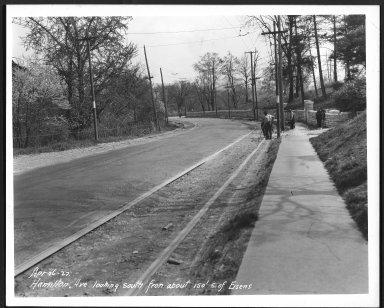 Street Improvement Photographs -- Box 23, Folder 62 (Hamilton Avenue) -- print, 1927-04-26