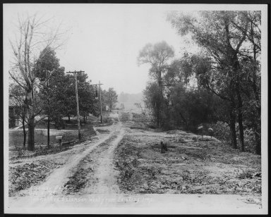 Street Improvement Photographs -- Box 23, Folder 65 (Hanna Avenue) -- print, 1929-10-05