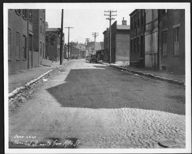 Street Improvement Photographs -- Box 23, Folder 66 (Hannibal Street) -- print, 1927-06-23