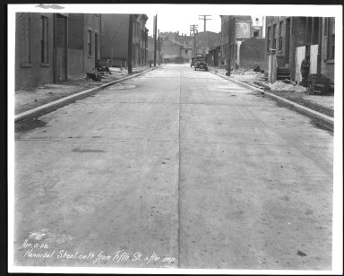 Street Improvement Photographs -- Box 23, Folder 66 (Hannibal Street) -- print, 1928-04-05