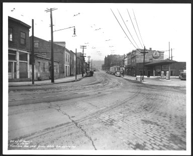 Street Improvement Photographs -- Box 24, Folder 02 (Harrison Avenue) -- print, 1938-02-23