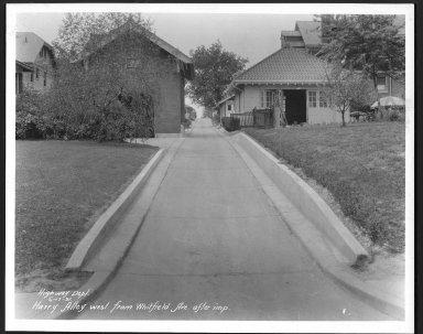Street Improvement Photographs -- Box 24, Folder 07 (Harry Avenue) -- print, 1931-06-17
