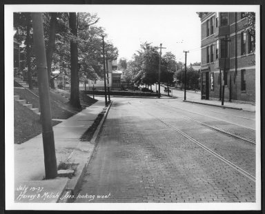 Street Improvement Photographs -- Box 24, Folder 14 (Harvey Avenue) -- print, 1927-07-19