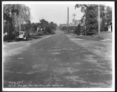 Street Improvement Photographs -- Box 24, Folder 24 (Herald Avenue) -- print, 1931-06-16