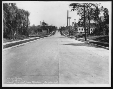 Street Improvement Photographs -- Box 24, Folder 24 (Herald Avenue) -- print, 1931-10-29