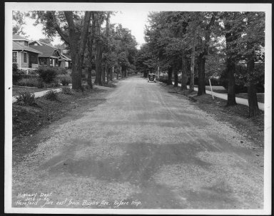 Street Improvement Photographs -- Box 24, Folder 25 (Herefeord Avenue) -- print, 1930-06-10