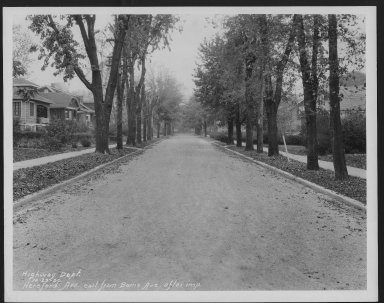 Street Improvement Photographs -- Box 24, Folder 25 (Herefeord Avenue) -- print, 1930-10-23
