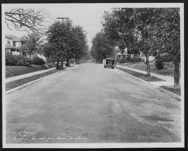 Street Improvement Photographs -- Box 24, Folder 25 (Herefeord Avenue) -- print, 1931-10-29