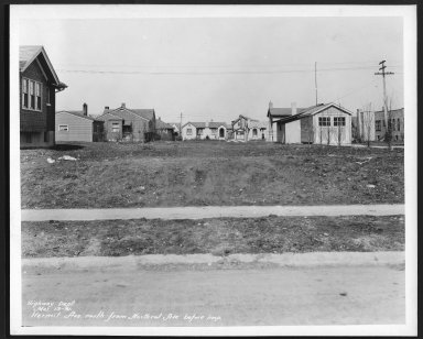 Street Improvement Photographs -- Box 24, Folder 26 (Hermit Avenue) -- print, 1931-03-13