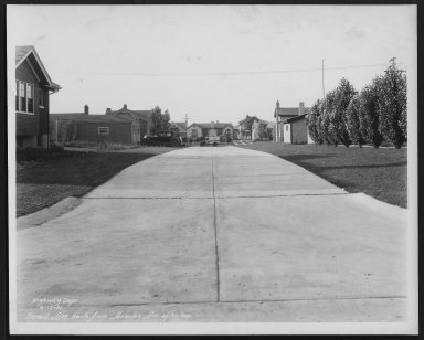 Street Improvement Photographs -- Box 24, Folder 26 (Hermit Avenue) -- print, 1931-06-17