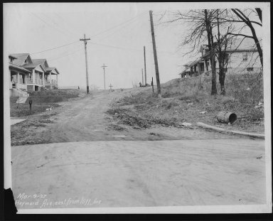 Street Improvement Photographs -- Box 24, Folder 30 (Heyward Avenue) -- print, 1927-03-09