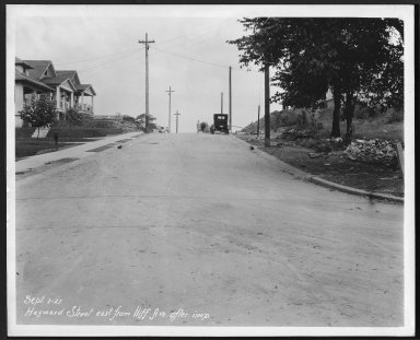 Street Improvement Photographs -- Box 24, Folder 30 (Heyward Avenue) -- print, 1927-09-01