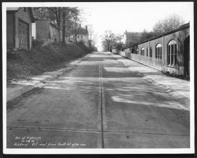 Street Improvement Photographs -- Box 24, Folder 31 (Hickory Avenue) -- print, 1931-10-28