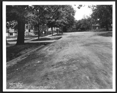 Street Improvement Photographs -- Box 24, Folder 32 (Higbee Street) -- print, 1930-05-23