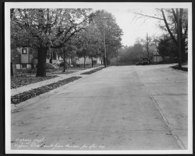 Street Improvement Photographs -- Box 24, Folder 32 (Higbee Street) -- print, 1930-09-30