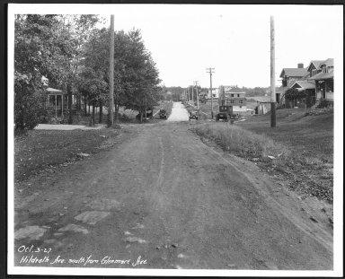 Street Improvement Photographs -- Box 24, Folder 35 (Hildreth Avenue) -- print, 1927-10-03