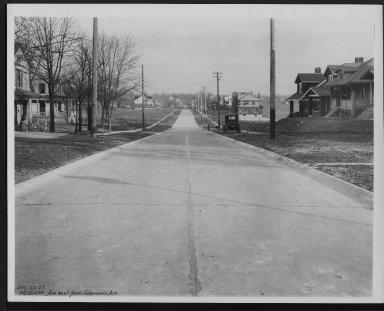 Street Improvement Photographs -- Box 24, Folder 35 (Hildreth Avenue) -- print, 1927-12-22