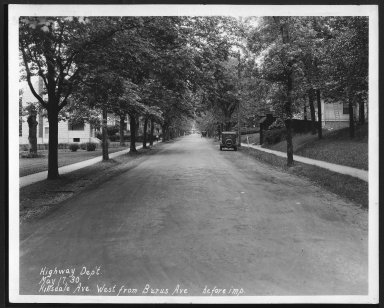 Street Improvement Photographs -- Box 24, Folder 38 (Hillsdale Street) -- print, 1930-05-17