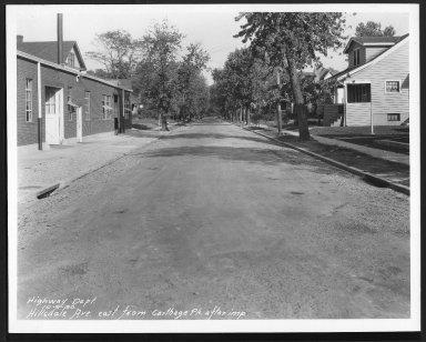 Street Improvement Photographs -- Box 24, Folder 38 (Hillsdale Street) -- print, 1930-10-09