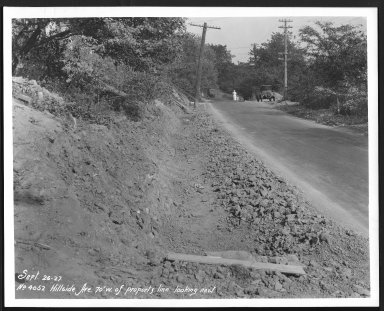 Street Improvement Photographs -- Box 24, Folder 39 (Hillside Avenue) -- print, 1927-09-26