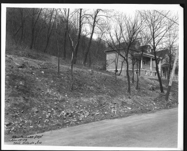 Street Improvement Photographs -- Box 24, Folder 40 (Hillside Avenue) -- print, 1928-04-19