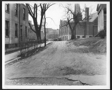 Street Improvement Photographs -- Box 24, Folder 42 (Hobart Avenue) -- print, 1930-12-22