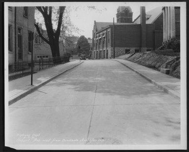 Street Improvement Photographs -- Box 24, Folder 42 (Hobart Avenue) -- print, 1931-05-06