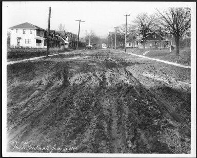 Street Improvement Photographs -- Box 24, Folder 45 (Homer Street) -- print, 1927-12-05