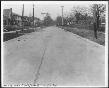 Street Improvement Photographs -- Box 24, Folder 45 (Homer Street) -- print, 1928-11-13